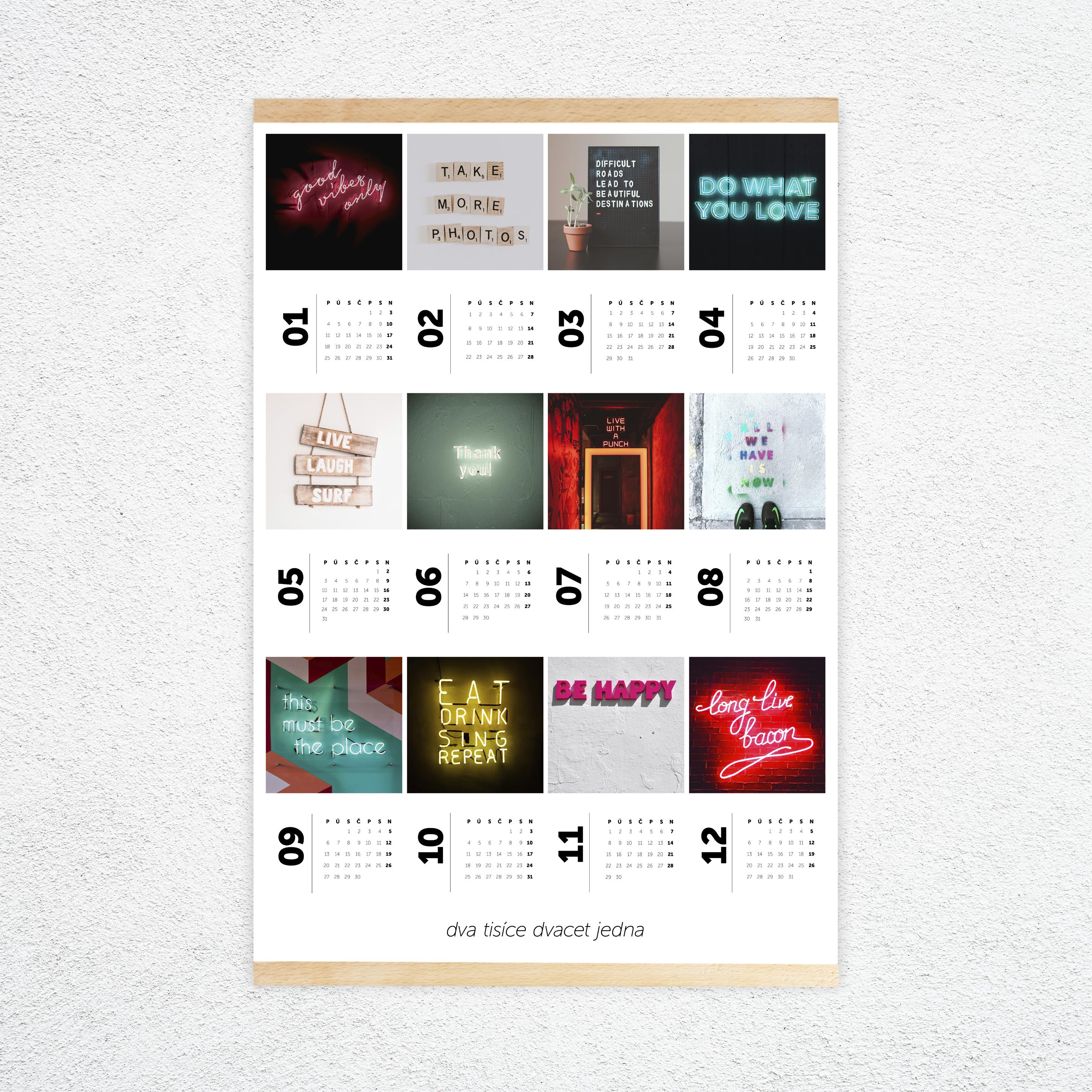velký plakátový kalendář